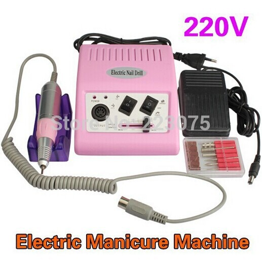 Pro Nail Art Acrylic File Electric Drill Bits Pen Manicure Pedicure Kit 30,000RPM Nail Art Machine 220V pro powerful 25000rpm electric nail drill pedicure manicure machine set with pedal
