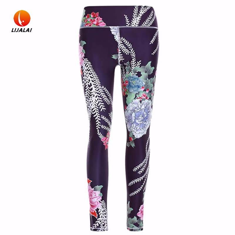 Prix pour Lijalai Femmes Impression Sport Collants Pantalon Pour Yoga Gym Athlétique Sport Séchage rapide Pantalon Élastique Running Fitness Gym Leggings