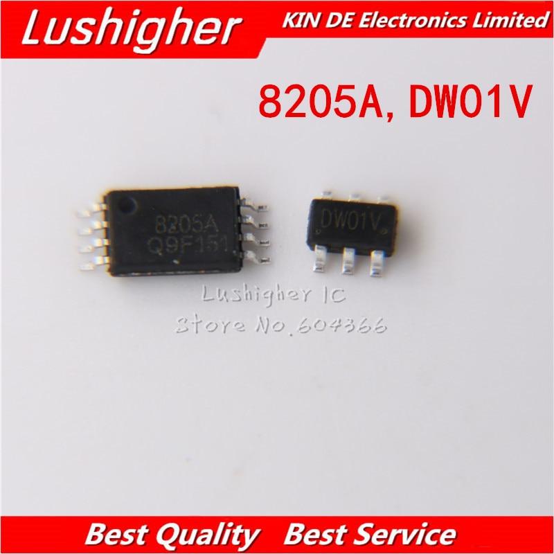 20PCS DW01 FS8205A FS8205 (10PCS* DW01 SOT23-6 +10PCS* FS8205A TSSOP8 ) New Original