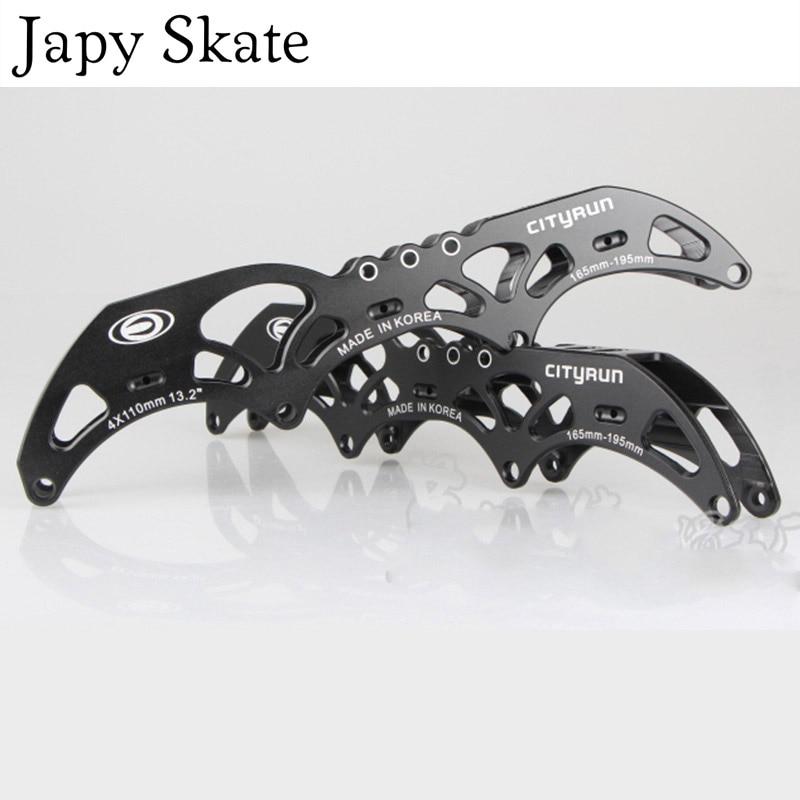 Prix pour Jus japy Skate Livraison Gratuite Cityrun Vitesse Patins Cadre Inline Chaussures De Patinage Bases 4X100mm 4X110mm 165mm 195mm Patins à roulettes Bassins