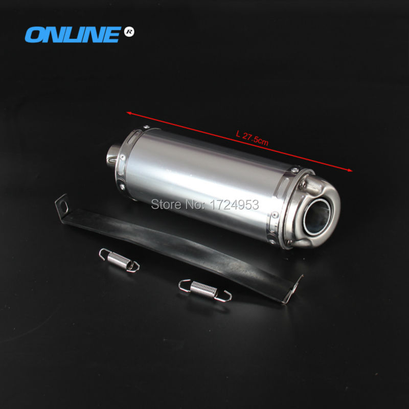 T8 big stainless steel exhaust pipe exhaust Muffler for Off-road motorcycle dirt pit Bike KTM BSE 32mm Tapered Connector crf50 frame battery box dirt pit bike case holder off road motorcycle apollo 110 chinese motocross