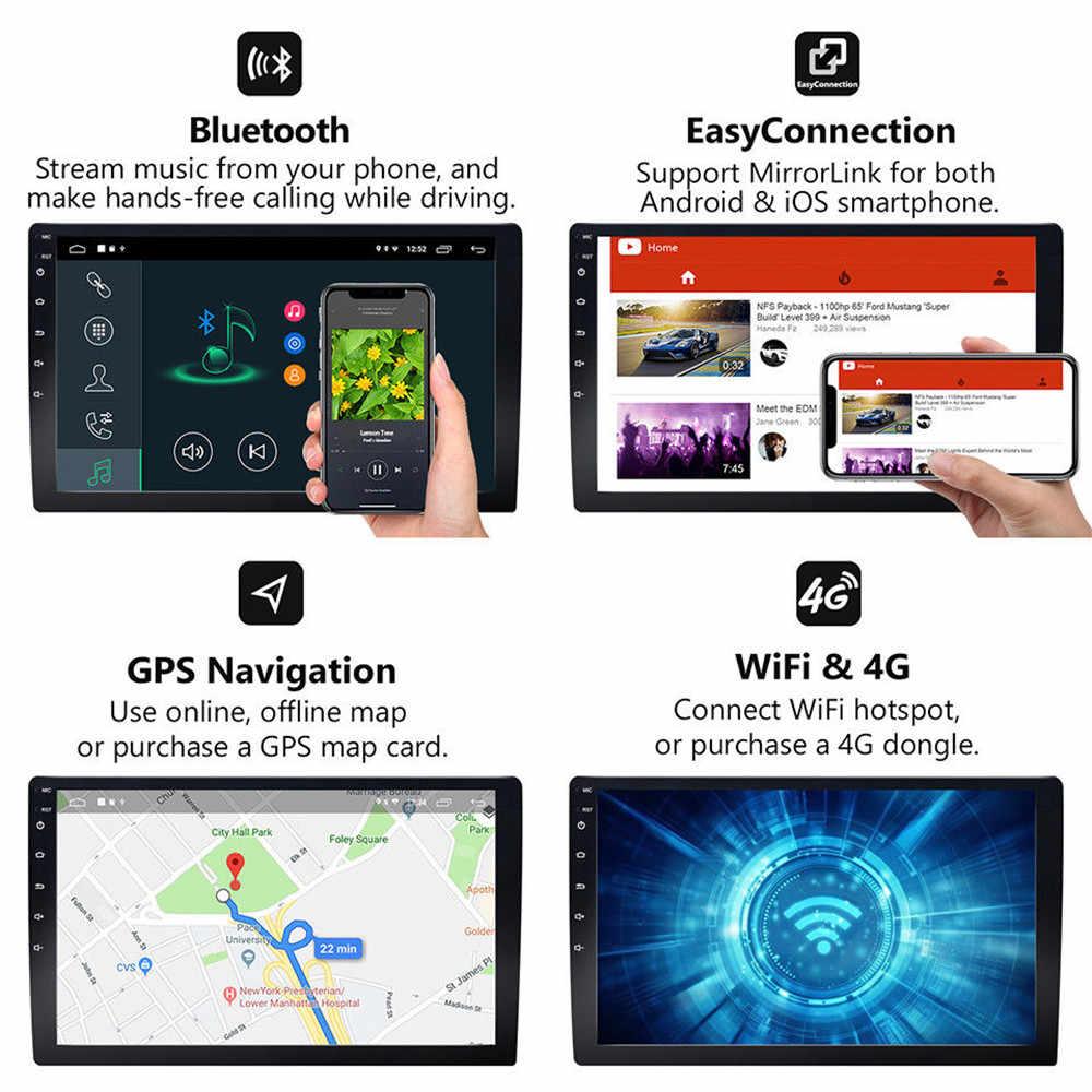 Phát Thanh Xe Hơi Android 9.1 10.1 Inch 2DIN Tự Động GPS Stereo Mp5 Nghe Bluetooth Wifi Autoradio Đa Năng 2DIN Âm Thanh Đa Phương Tiện 45