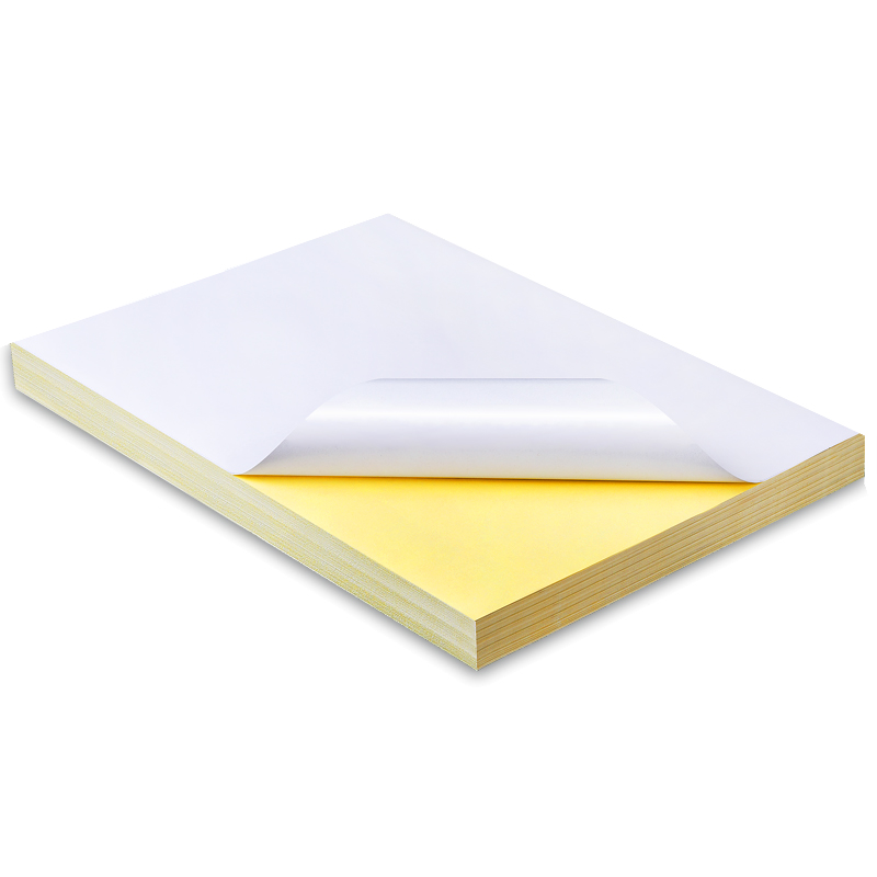 50 Sheets Self Adhesive Good Printing Quality A4 Blank White Paper Sticker Label Paper For Laser Printer