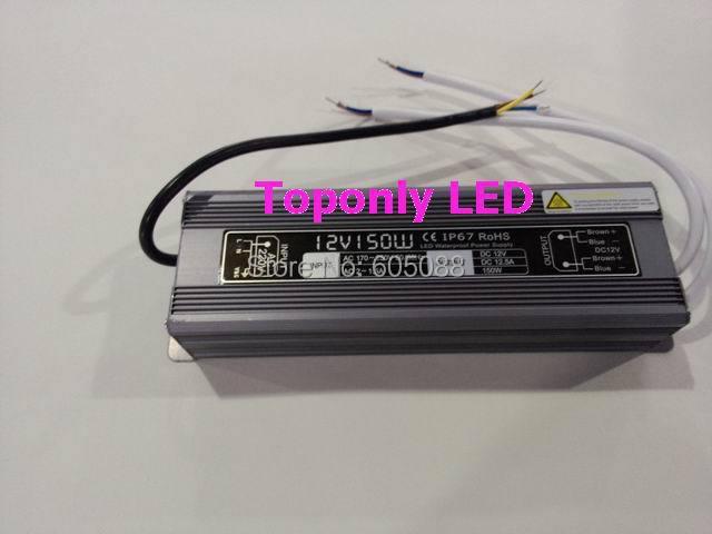 100% quality warranteed 150w DC24v led light transformer ip67 waterproof led power supply led driver CE&ROHS AC110v 220v input 200w waterproof transformer ip67 ac110v