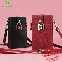 FLOVEME Universal Lovely Wallet Case For IPhone 6 6s 7 7 Plus Girl Messenger Leather Phone