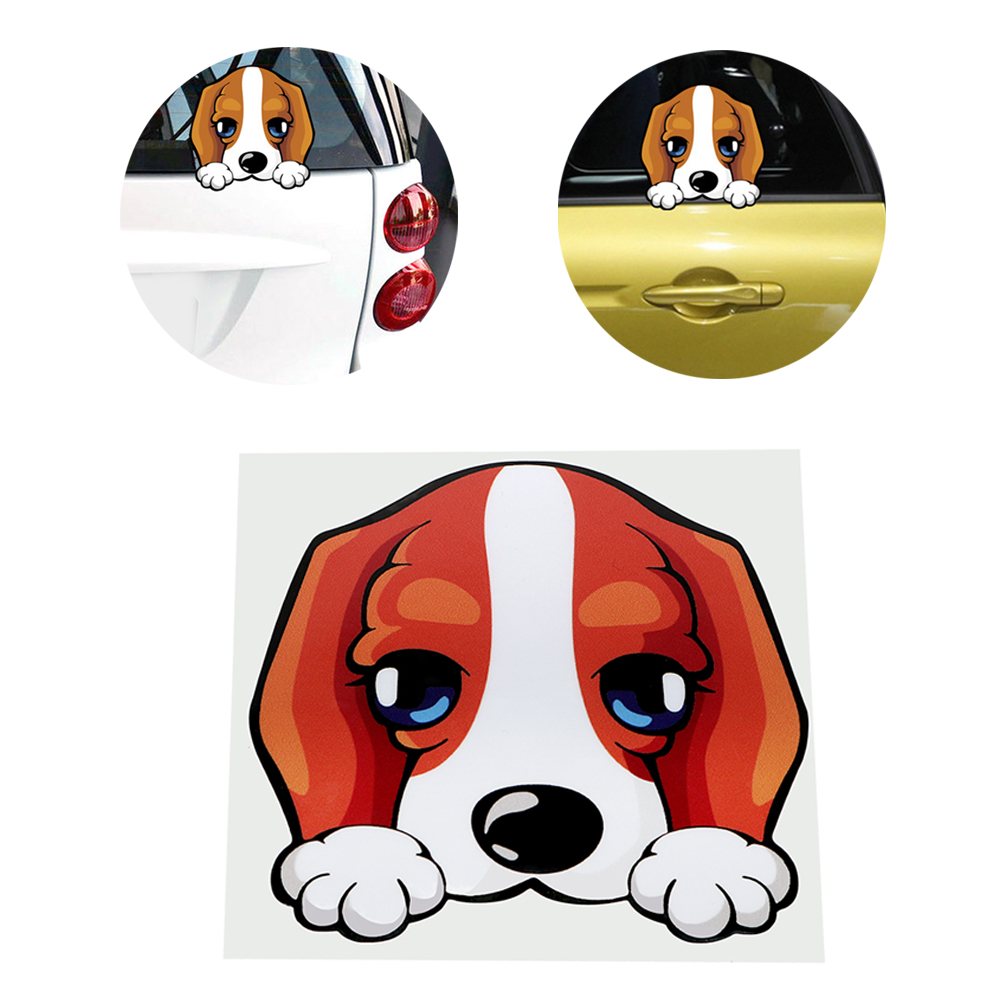 11*11CM Car Body Decor Car Stickers and Decals Auto Motorcycle Sticker Lovely Dog Anti Heat and Sunlight Universal