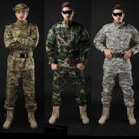 Armée militaire tactique uniforme chemise + pantalon Camouflage ACU FG Combat uniforme US armée vêtements pour hommes costume Airsoft chasse