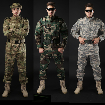 Army Military Tactical Uniform Shirt + Pants Camo Camouflage ACU FG Combat Uniform US Army Men's Clothing Suit Airsoft Hunting