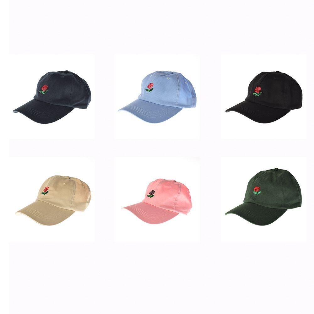 97813077e6e Online Shop Fashion Unisex Dad Hat Flower Rose Embroidered Curved Brim Baseball  Cap Visor