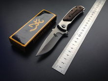 Folding Pocket Knives Steel Blade Wood Handle Utility Hunting Survival Multi Knives Outdoor Camping knife Rescue EDC Tool