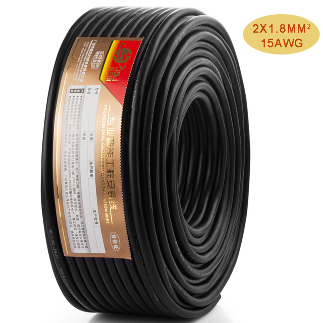 Loud Speaker Wire 15GA OFC Pro audio Cable Bulk line by Meter DIY