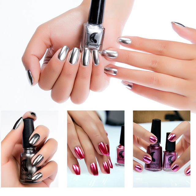 Mirror Silver Gel Holographic Nail Polish Metallic Stainless Steel Color Matte Nail Polish Fall 2017 Nail Oil 17 Color
