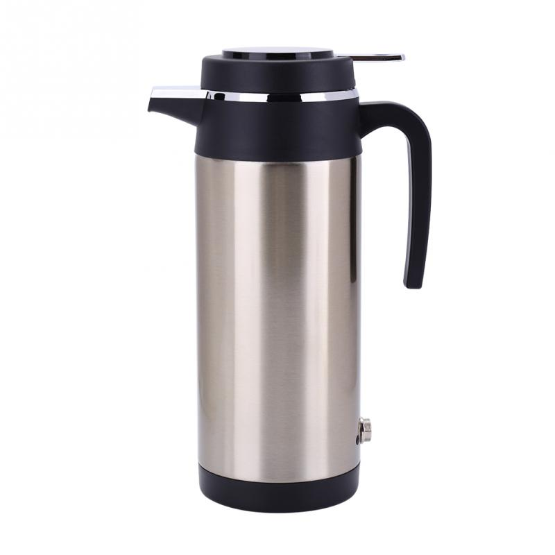 1200ml 24V Auto Car Heating Cup Charger Stainless Steel Electric Heating Cup Boiling Water Heater Kettle Travel Use