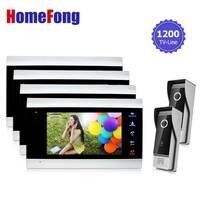 Homefong Wire Doorbell Intercom Video Doorphone System 2V4 For Villa Time Adjustable Color Door Intercom Camera