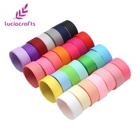 Lucia Crafts 100y 15mm Multi Options Grosgrain Ribbons Bow Crafts DIY Sewing Handmade Wrapping Materials Accessories