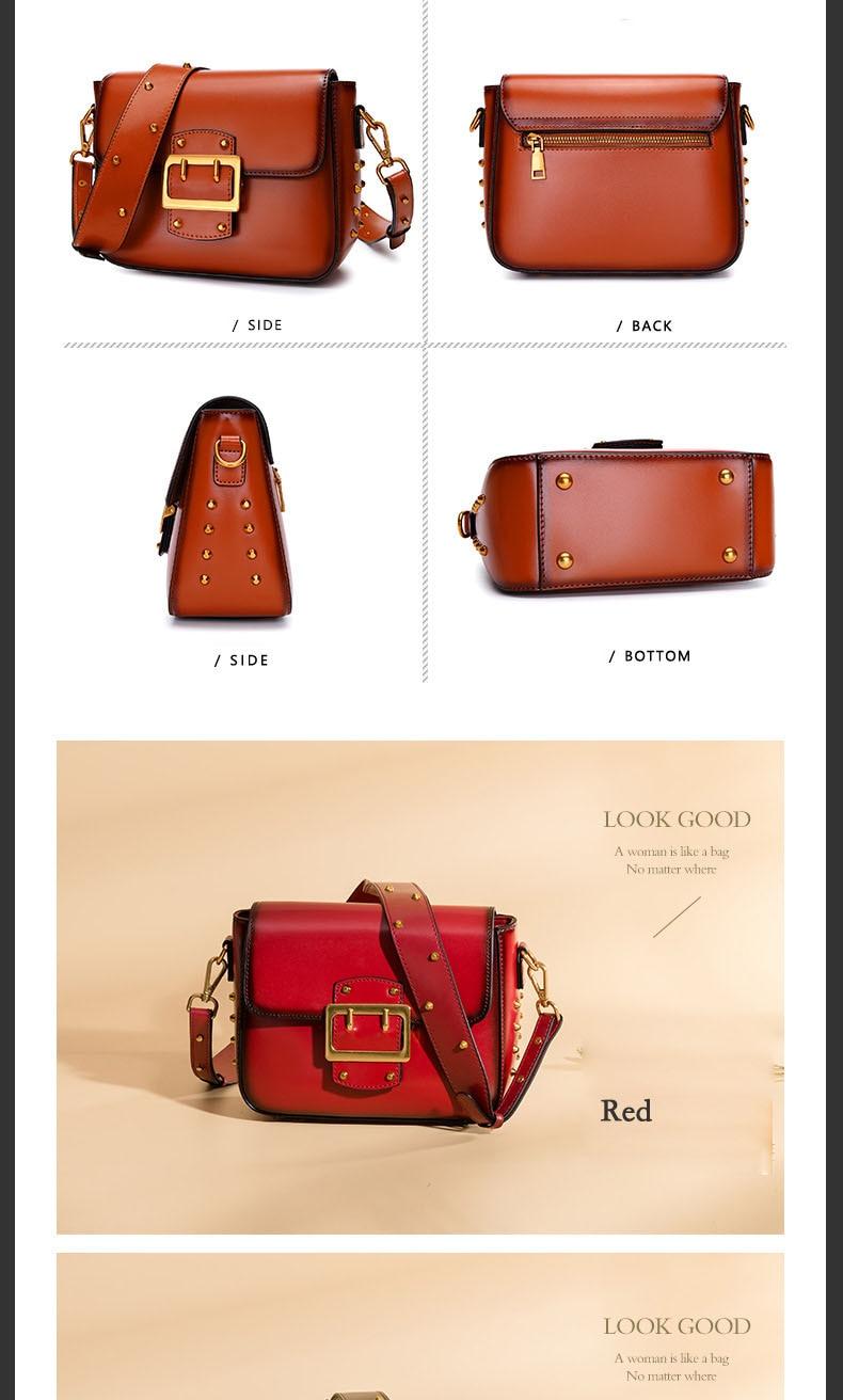 Vintage Real Leather Wide shoulder strap Handbag premium quality fashion genuine leather Shoulder Bags of Famous Brand (12)