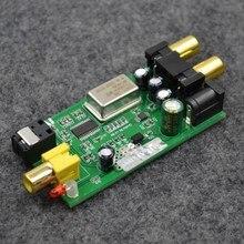 Décodeur DAC Conseil Numérique optique fiber coaxial signal d'entrée À analogique RCA signal sortie Pour la maison TV DVD Audio Signal commutation