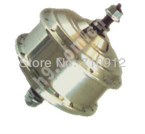 ФОТО OR01B1 48V 176rpm Front V-Brake Motor DC No Hall Brushless with 3-Pin Water-proof Wire/Cable High-speed 128 MINI CE