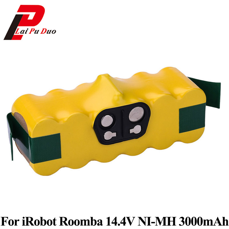 14.4V 3.0Ah NI-MH Rechargeable Battery for iRobot Roomba 500 560 530 510 562 550 570 500 610 770 760 780 790 Battery Robotics floral plus size lattice hollow out top