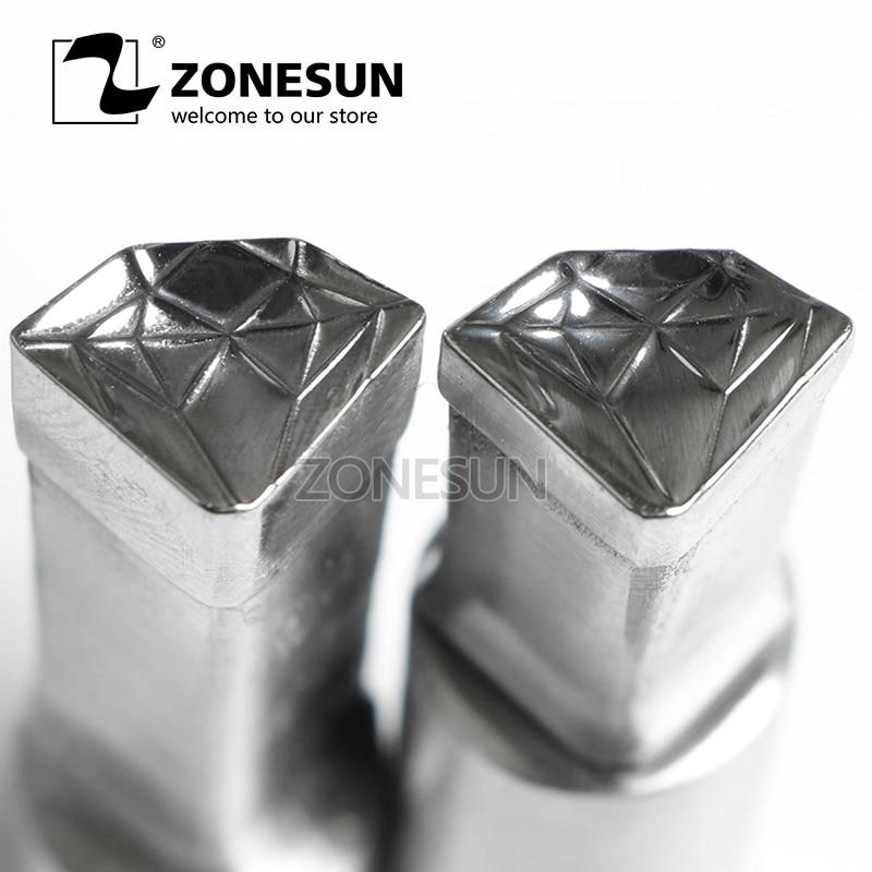 все цены на ZONESUN Diamond Shape Logo Customized Milk Tablet Slice Die Stamp Precision Punch Die Mold Sugar Tablet Press Tool Tdp 0/1.5/3 онлайн