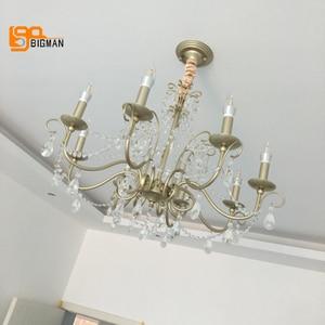 Image 5 - Lustres de cristal estilo europeu iluminação moderna para sala estar jantar ouro kristallen kroonluchter led luminárias