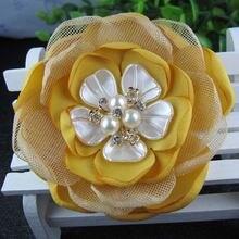 6 шт/лот 3 дюйма Новые сгоревшие края невесты корсаж брошь цветок