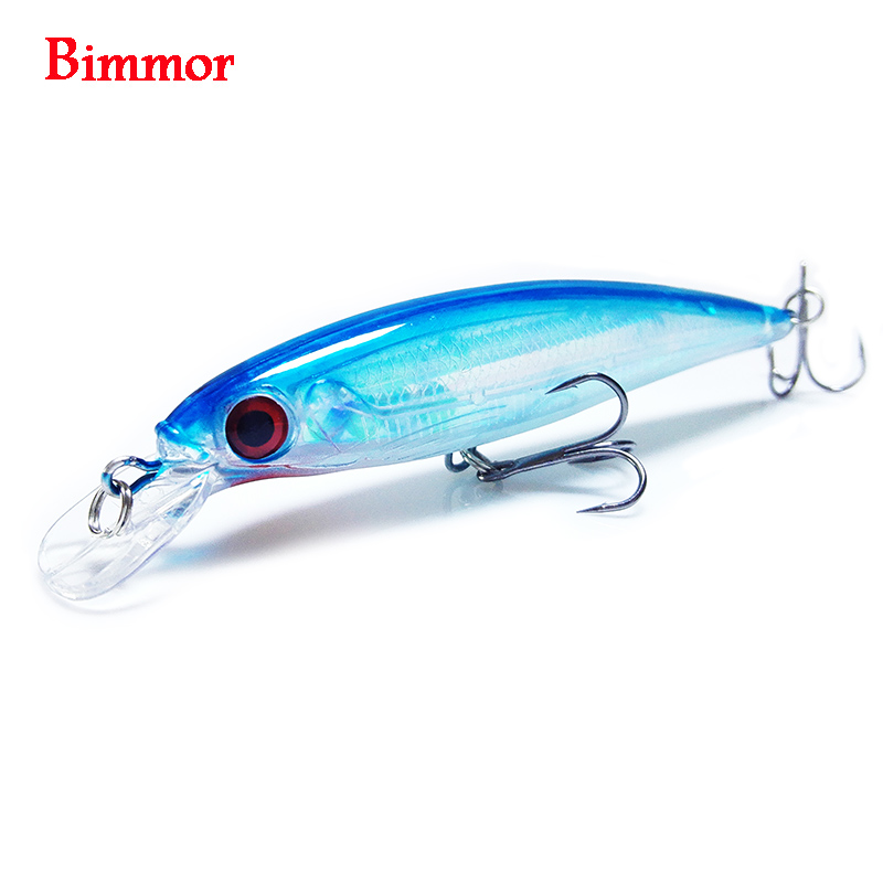 Bimmor Brand 1PCS Laser Minnow Fishing Lure 11CM 12.5G pesca hooks Floating wobbler tackle crankbait artificial japan hard bait 1pcs 11cm 14g fishing lure hard bait fish minnow luminous artificial baits fishing wobbler japan pesca lure crankbait kosadaka