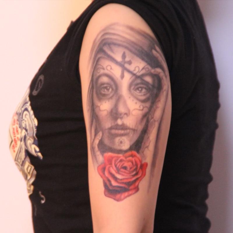 Temporary Tattoo Stickers Waterproof Arm Women Portrait