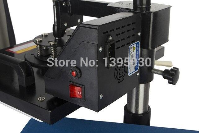 1 STÜCK 6in1 30*38 cm T-shirt Wegschwenken Transferpresse Maschine/Schütteln Kopf Wärmeübertragung Sublimation Maschine