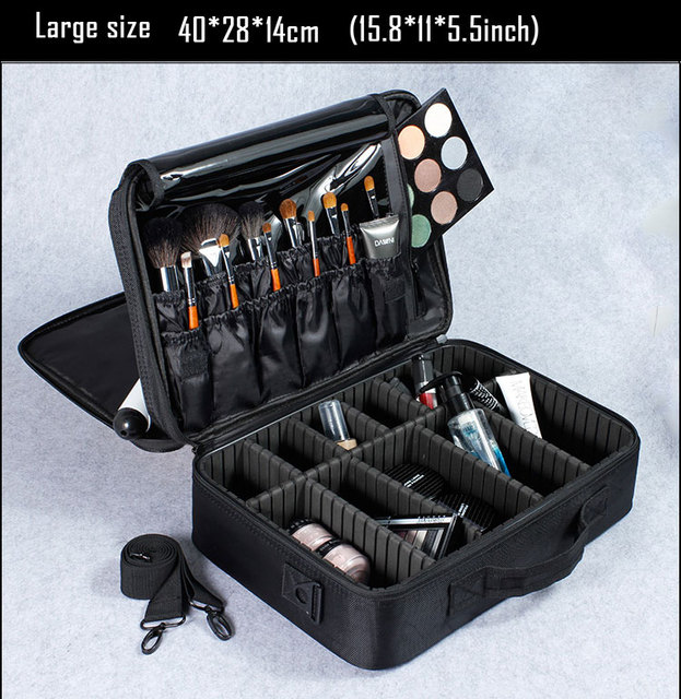 Makeup Bag And Cosmetic Travel Organizer