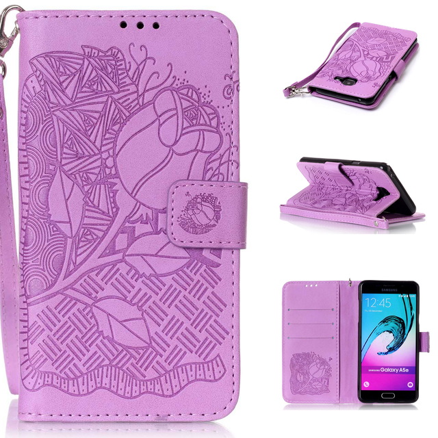 Luxury embossing Wallet Stand PU Leather flip Case For Samsung Galaxy A3 2016A310 case Android Smartphone Cover With Card Holder