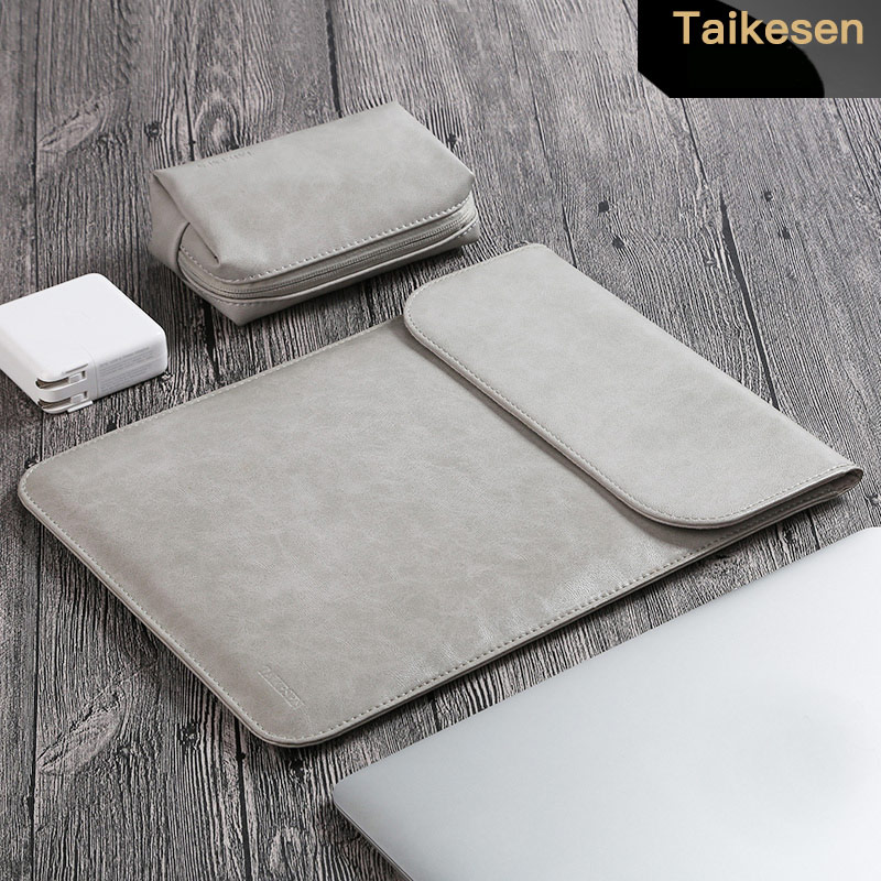 2018 Laptop Sleeve Bag Case Pouch For MacBook Air Pro 11 13 15 inch PU Leather Case Sleeve Notebook Ultrabook Carry Bag Case