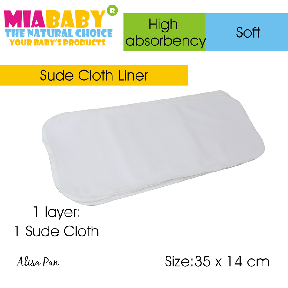 Miababy Cloth Diaper/Insert Liner,put It On Top Of The Insert Or Put It Into Diaper Directly. Stay-dry, Soft And Easy To Wash!