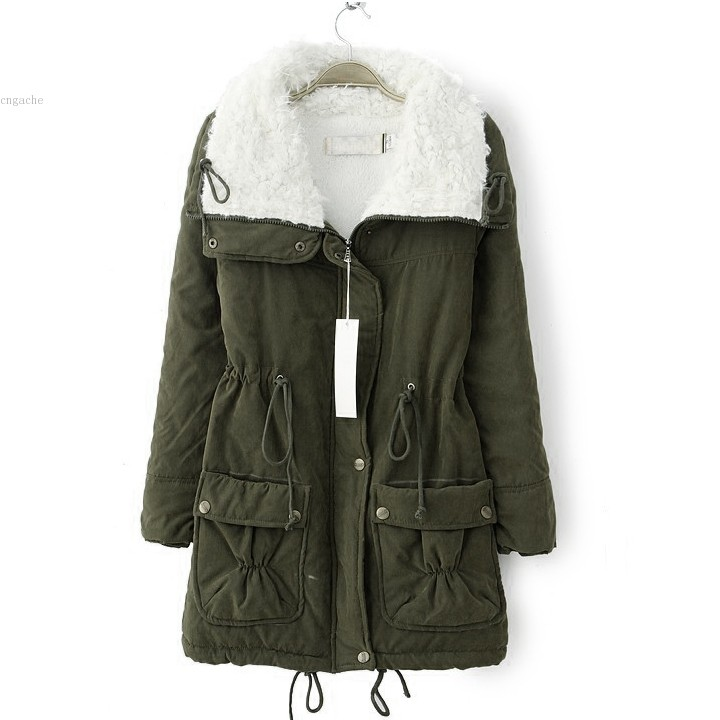 Fleece Lined Jacket Coat piGmrF