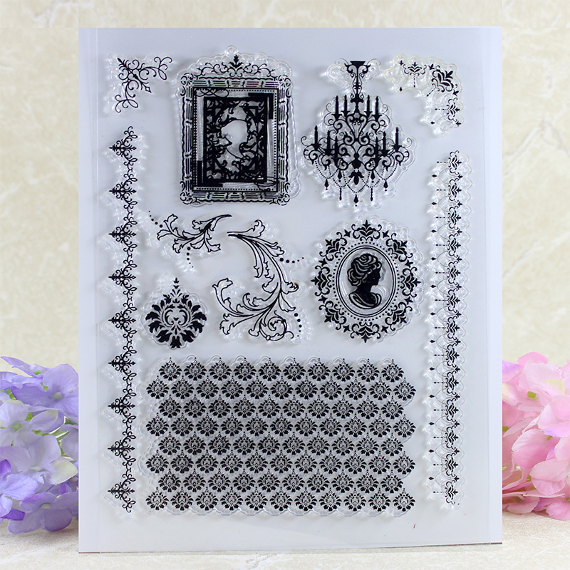 Flowers decorated Transparent Clear Silicone Stamp/Seal for DIY scrapbooking/photo album Decorative clear stamp A036 lovely animals and ballon design transparent clear silicone stamp for diy scrapbooking photo album clear stamp cl 278