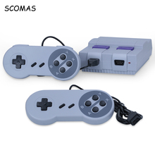 SCOMAS AV Out Retro Classic Handheld Game Player Console Portable Mini Family TV Video Built-in 400 Games Dual Gamepad Consoles scomas 8 bits super mini classic handheld gaming player family tv video retro game console childhood built in 400 games av out