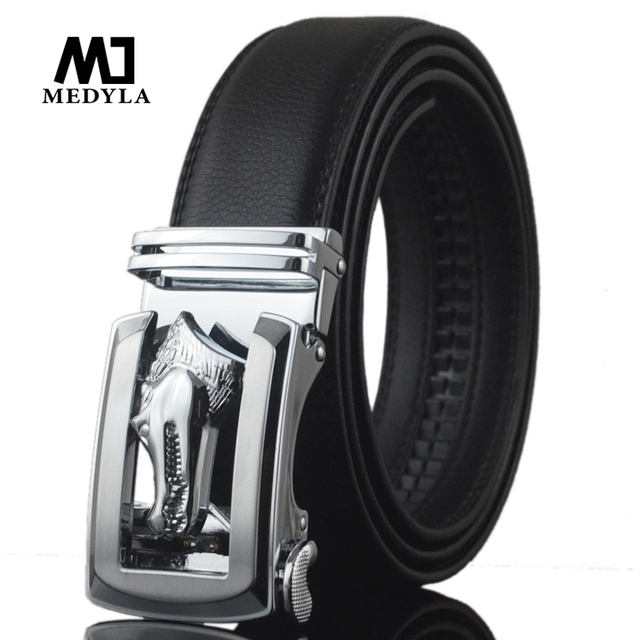 2017 100% genuine leather automatic belt buckle men's business casual senior high quality made in China