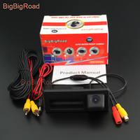 BigBigRoad Car Trunk Handle Rear View Camera For Audi A4 / S4 / RS4 B8 8K 2009 2016 / Q3 8U 2011 2017/ For Cayenne 92A 2010 2017