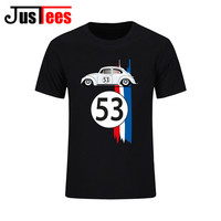 Brand New Summer Cotton Men Clothing Male Slim Fit VW Beetle Herb T Shirts Man Retro T Shirts Casual T-Shirts Swag Mens Tops Tee