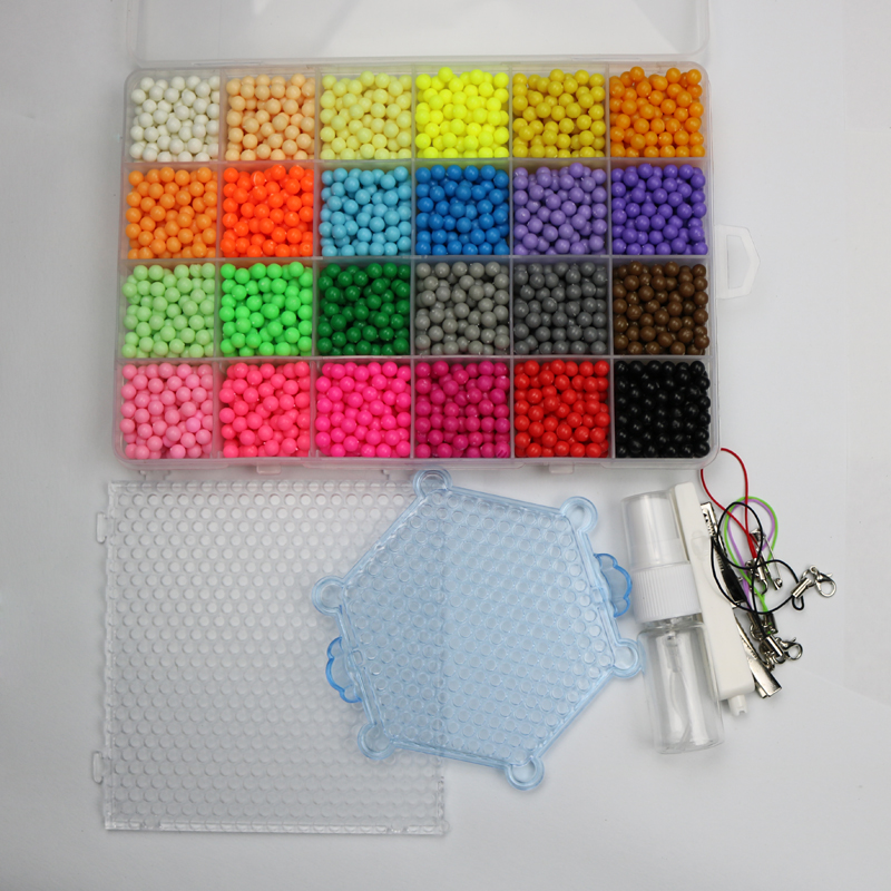 все цены на New toys 24 about 4800pcs Colour Magic hama Beads puzzle kits Water Sticky Perler Beads Pegboard Set Fuse Beads Jigsaw Puzzle онлайн