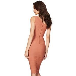 Image 4 - Adyce vestido Bandage de noche caqui sin mangas, vestido de noche sexi con un hombro al descubierto para mujer de verano 2020