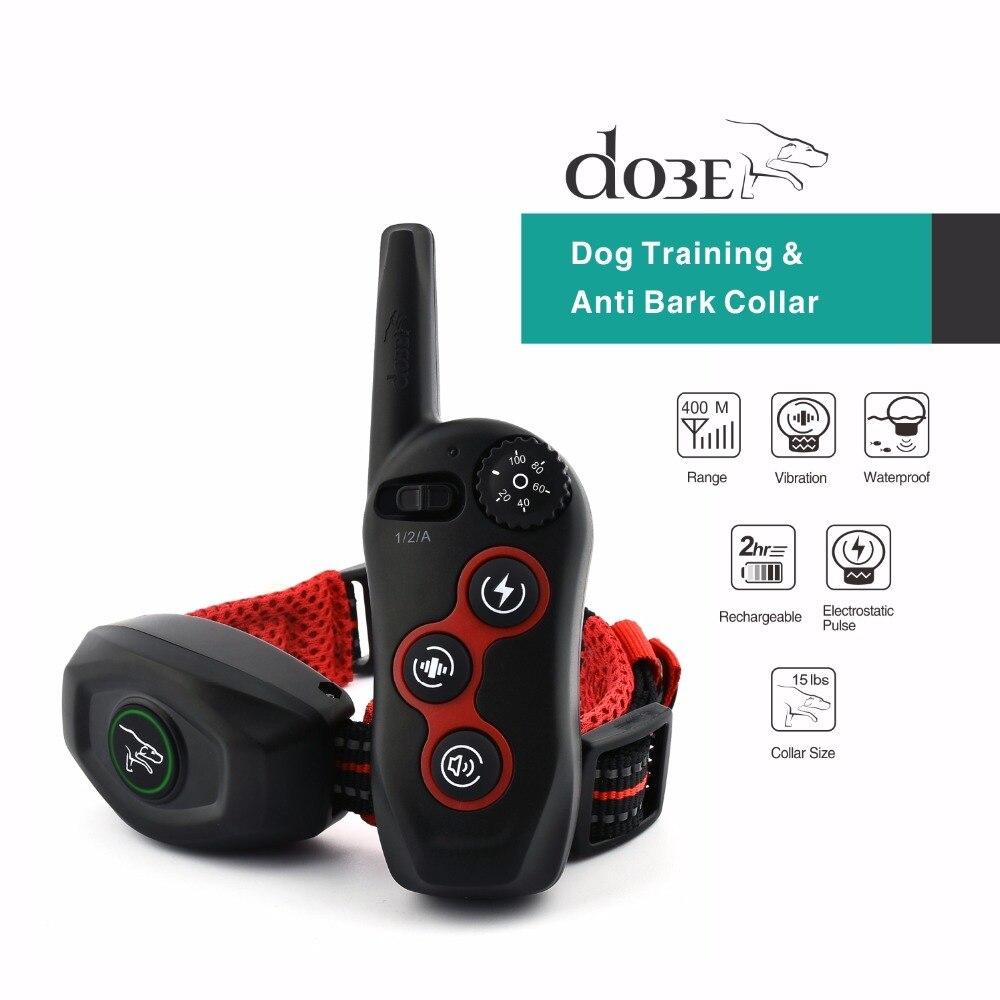 Nouveau Design à distance chien formation et Anti aboiement collier 400M Rechargeable chien électrique collier étanche produit pour animaux de compagnie 2019 nouveauté