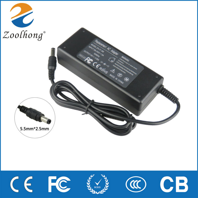 Zoolhong 19V 4.74A 90W AC Adapter For Toshiba Satellite L50-A T551 L40-AC05W1 C50-A Laptop Charger Power Supply 5.5mm*2.5mmZoolhong 19V 4.74A 90W AC Adapter For Toshiba Satellite L50-A T551 L40-AC05W1 C50-A Laptop Charger Power Supply 5.5mm*2.5mm