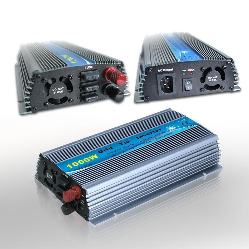 Input 10.8-28V Output Solar Grid Tie Pure Sine Wave Inverter 120V AC 1000W Indoor Design Inverters Converters micro inverter on grid tie for 600w windmill turbine 3 phase ac input 10 8 30v to ac output pure sine wave
