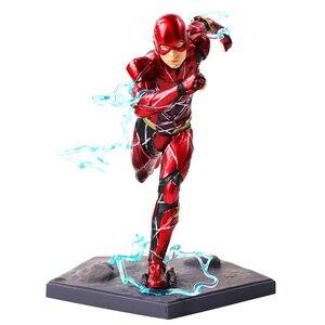 Image 2 - 16cm 플래시 아이언 스튜디오 Justice League Art Scale 1/10 PVC 액션 피규어 소장 모델 장난감