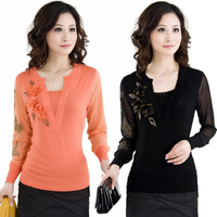 2013Spring Women S Sweater Cashmere Sweater Elegant Mother Clothing Knitted Basic Sweater Tops