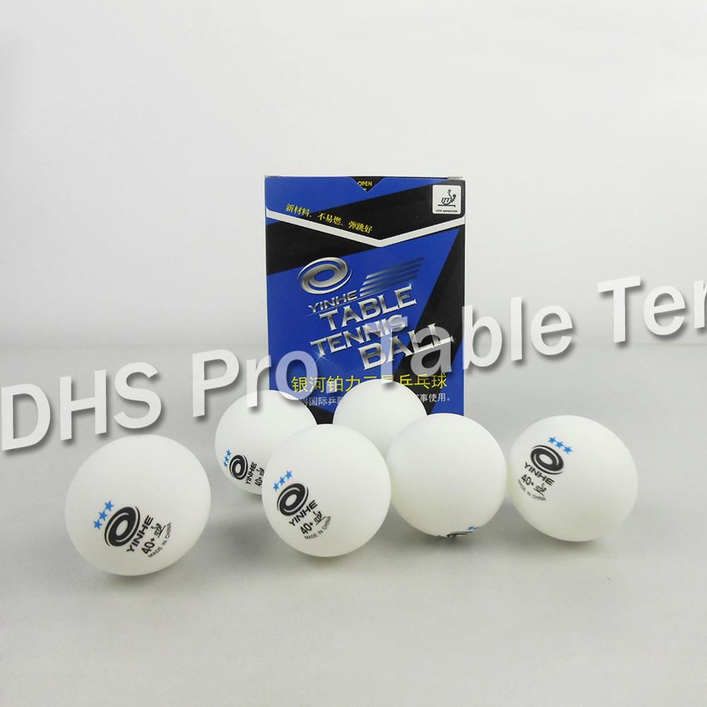 Balls 6X Pro DHS 3 Stars Ping Pong Ball 40mm for Table Tennis Match Sports Games White