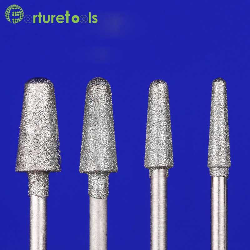 50ks diamantový bodový dremel rotační nástroj namontovaný kola - Brusné nástroje - Fotografie 3