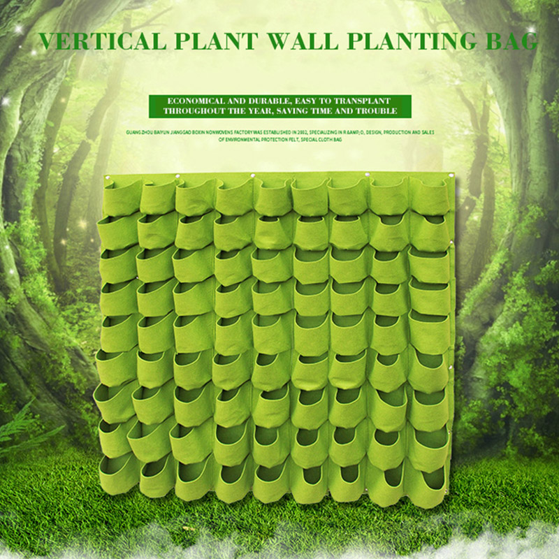 VOZZISOUE Hot Wall Hanging Planting Bonsai Bags Planter Garden Bag 9/18/25/36/49/56/64/81 Pockets Verticale Tuin Green Grow Bags