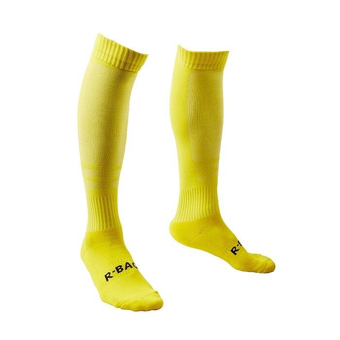 R-BAO, 1 пара, хлопковые мужские спортивные носки, прочные длинные футбольные спортивные носки, футбольные баскетбольные дышащие противоскользящие гольфы - Цвет: yellow